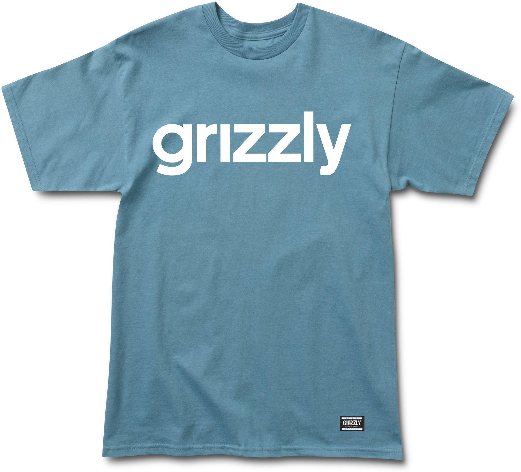 t-shirt męski GRIZZLY LOWERCASE TEE Black/Yellow