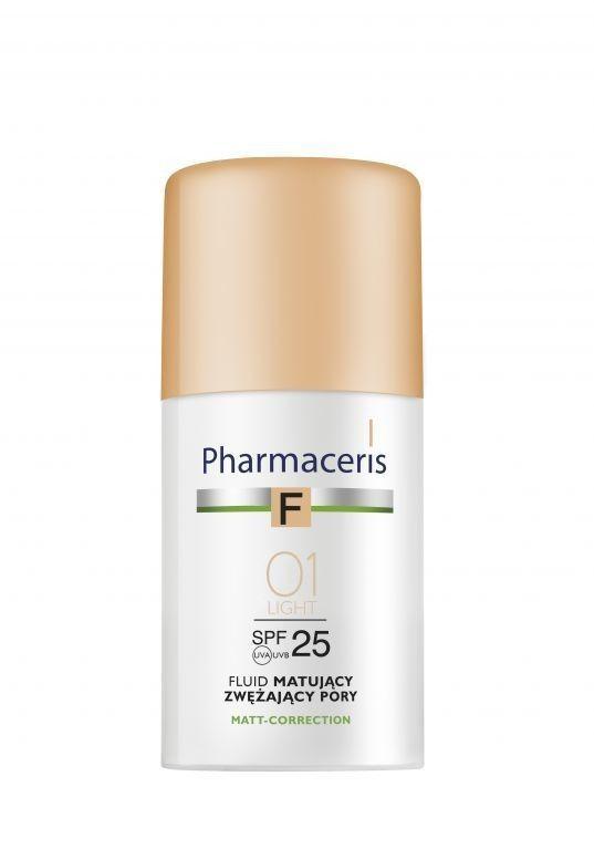 Pharmaceris F matt-correction fluid matujący zwężający pory SPF 25 01 ivory (kość słoniowa) 30 ml