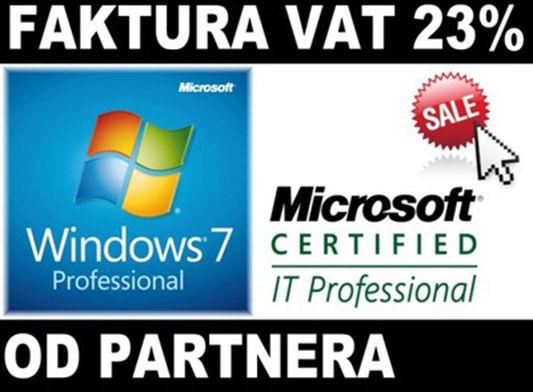 MS Windows 7 Pro Microsoft Partner COA PL