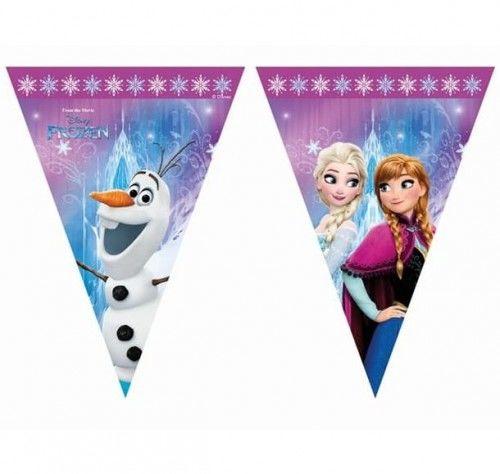 Baner z flag Frozen - Kraina Lodu Northern Lights