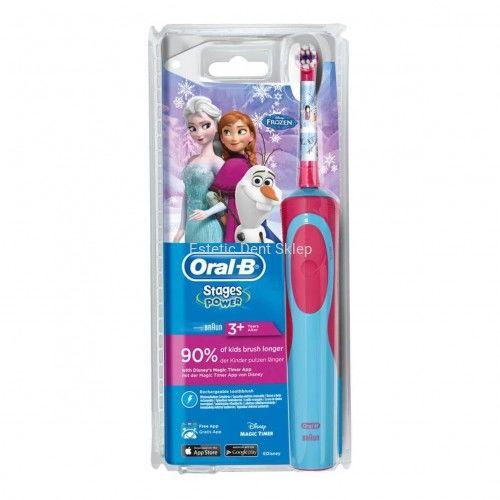 Oral-B Stages Kids Kraina Lodu szczoteczka elektryczna dla dzieci 3+