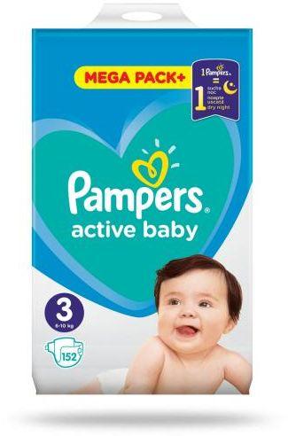 Pampers Active Baby 3 pieluchy 6-10 kg 152 sztuki
