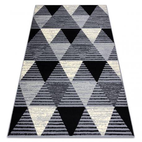 Dywan BCF BASE 3986 Geometric, trójkąty geometryczny szary / czarny 120x160 cm