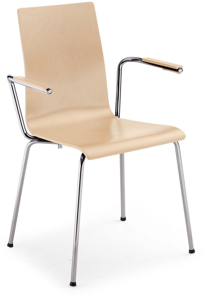 NOWY STYL Krzesło CAFE VII ARM alu/black