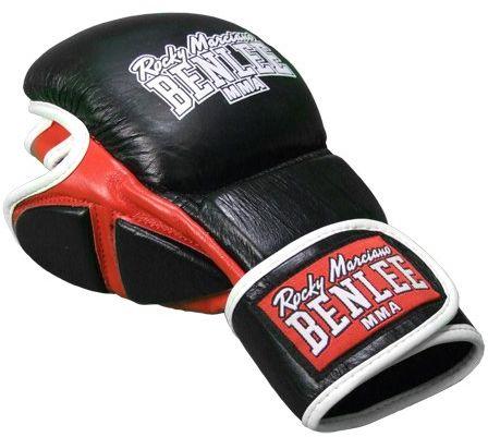 Benlee Rocky Marciano męska skórzana rękawica Sparring MMA - czarna, mała/średnia
