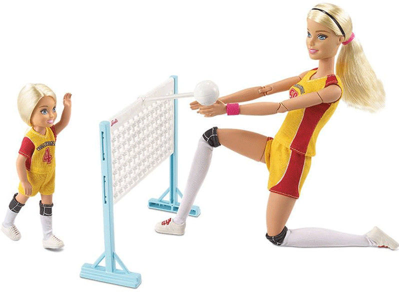 Barbie - Lalki Barbie i Chelsea trening siatkówki FRL33