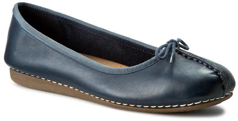 Baleriny CLARKS - Freckle Ice 203529324 Navy Leather
