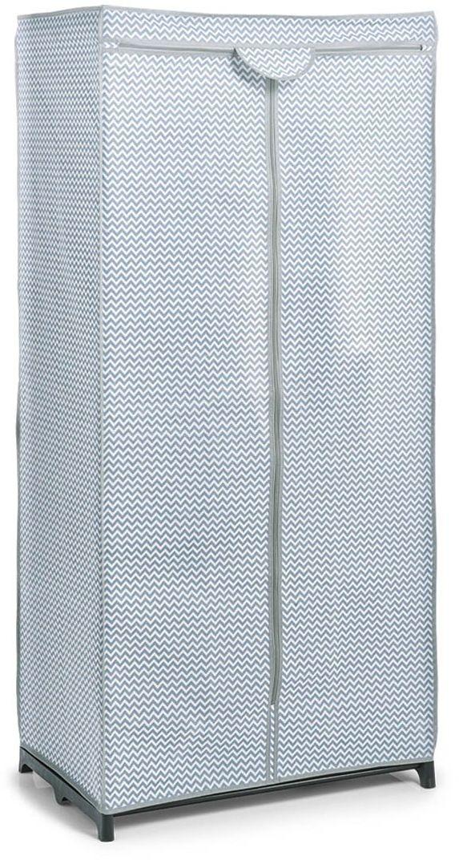 Zeller 14636 szafa tekstylna, włóknina, biała/szara, ok. 75 x 50 x 160 cm