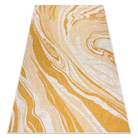 Dywan SZNURKOWY SIZAL SION Marmur 22169 płaskie tkanie ecru / żółty / beż 80x150 cm