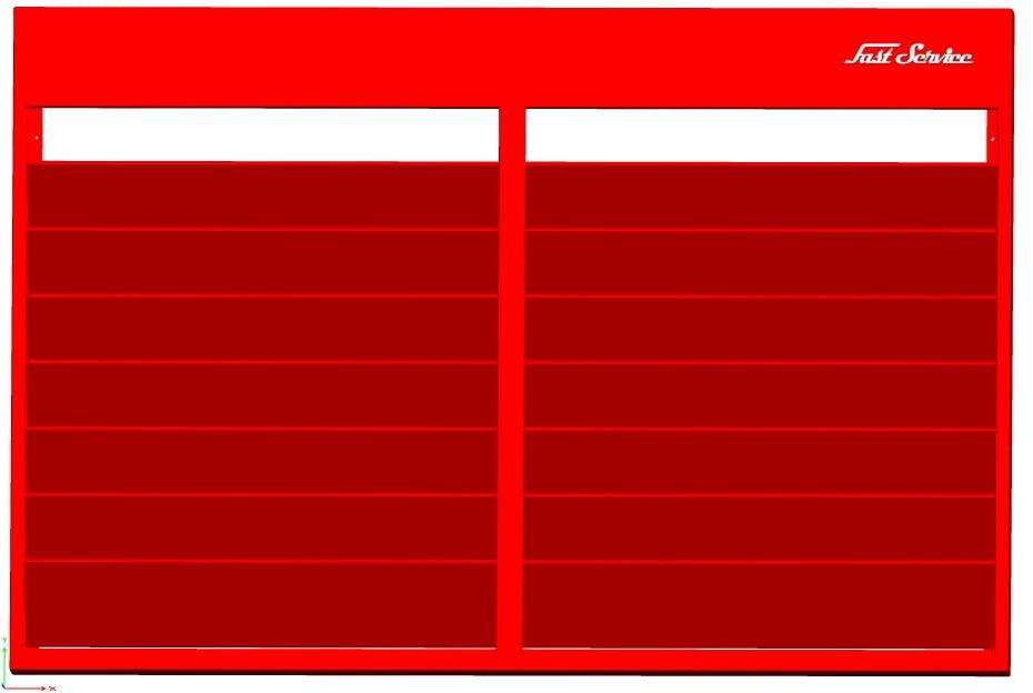Tablica serwisowa na zlecenia - 7 rzędów
