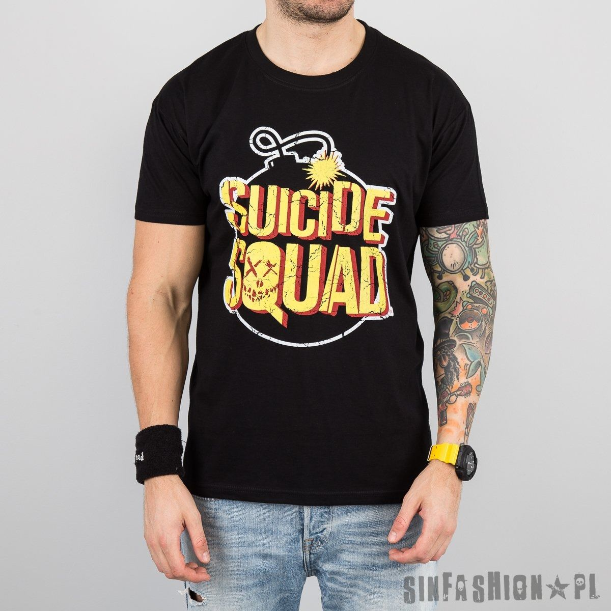 Koszulka dc- suicide squad bomb