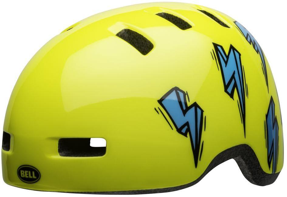 BELL LIL RIPPER Kask rowerowy dziecięcy hi-viz blue bolt Rozmiar: 45-52,ripperhiviz