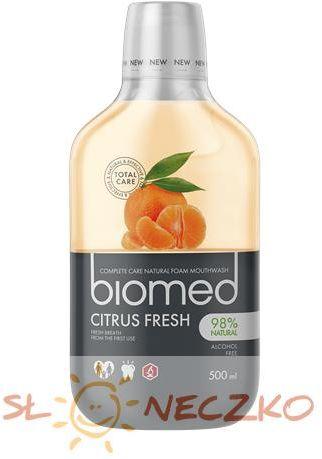 Płyn do płukania jamy ustnej odświeżający Citrus Fresh 500ml Biomed