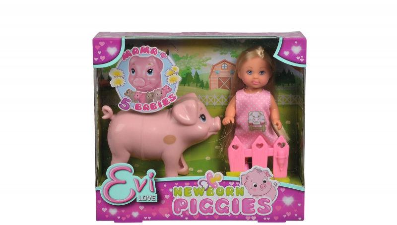 Lalka Evi Love z ciężarną świnką