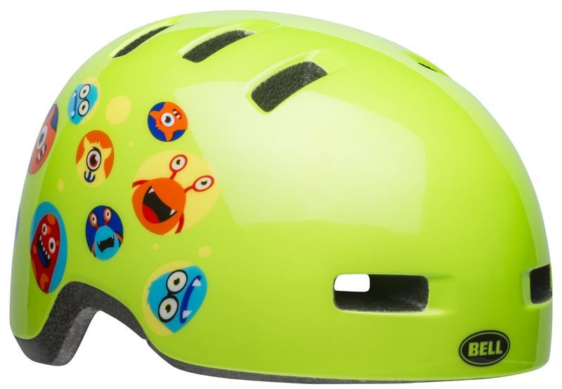 BELL LIL RIPPER Kask rowerowy dziecięcy monsters gloss green Rozmiar: 48-55,rippermonstersgloss