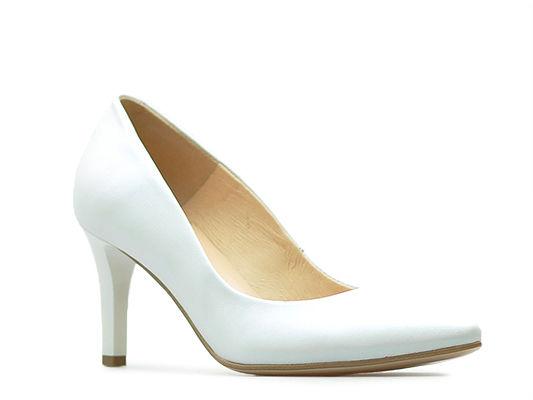 Czółenka Damiss DS-43/1 Białe perła