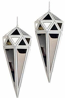 EUROCINSA Ref.27013 diamentowa zawieszka lustro z białym 9 Ø x 21 cm 6 sztuk, rozmiar uniwersalny