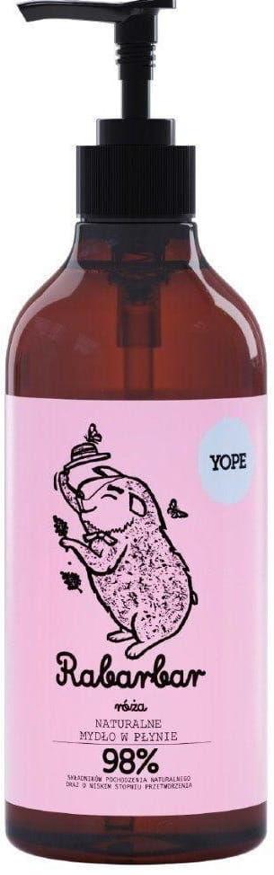 Mydło Naturalne w Płynie Rabarbar i Róża 500ml - Yope