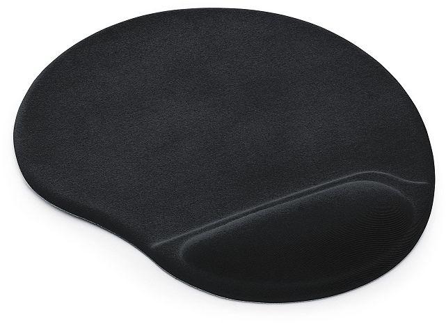 Podkładka pod mysz i nadgarstek TEA - kolor czarny