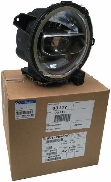 Reflektor LED prawy europa MOPAR Jeep Wrangler JL 2018-