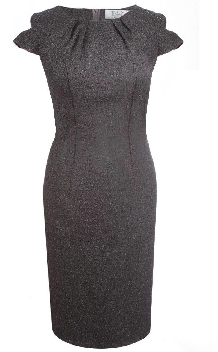 Sukienka FSU457 GRANATOWO-BRĄZOWY
