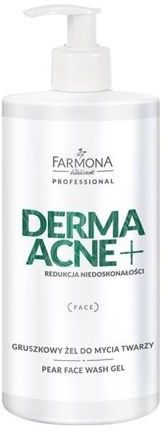 Farmona DERMAACNE+ Gruszkowy żel do mycia twarzy 500 ml