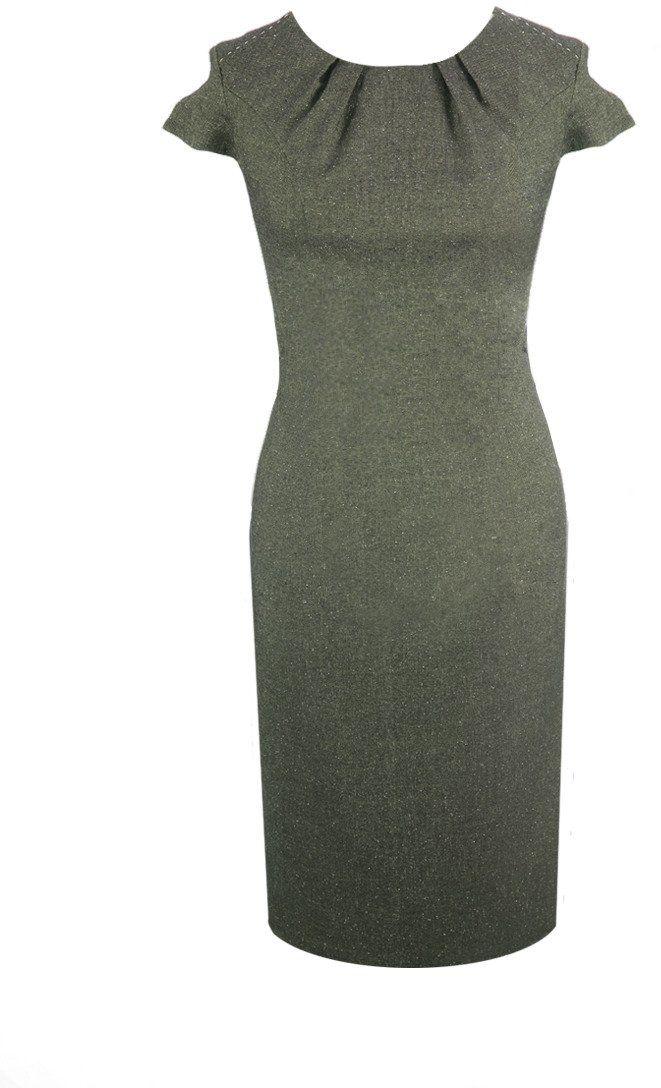 Sukienka FSU457 CZARNY + ZIELONY