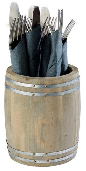 Stojak-beczka na sztućce/przyprawy śr. 115x(H)140mm