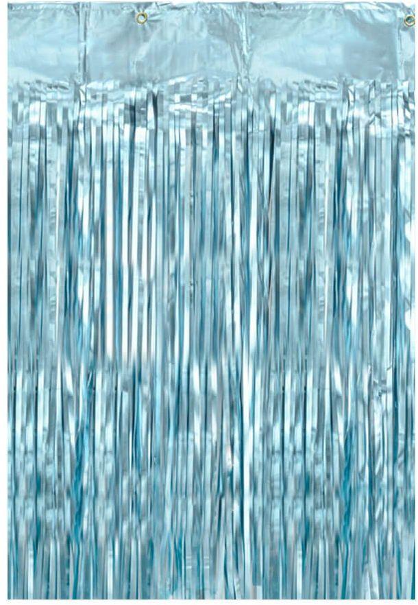 Kurtyna - zasłona na drzwi metaliczna błękitna - 2,5 m x 90 cm
