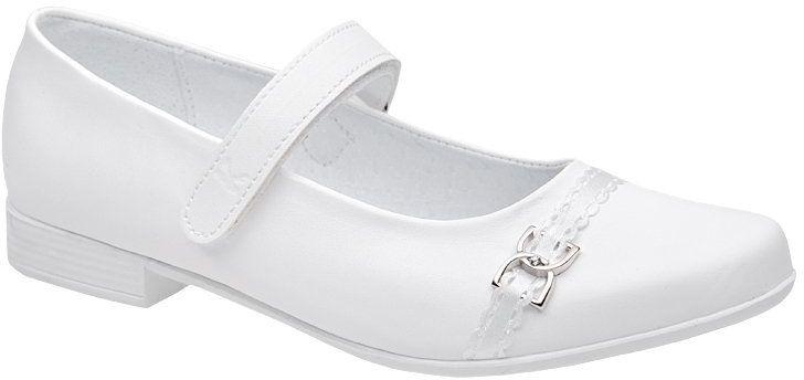 Balerinki buty komunijne KORNECKI 6129 Białe Baleriny