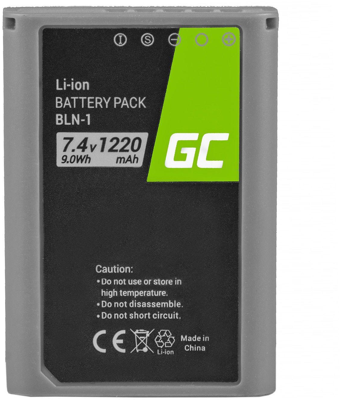 Akumulator Bateria Green Cell  BLN-1 BLN1 do Olympus E-M5 Mark II OM-D E-M5 PEN-F PEN E-P5 OM-D E-M1 Half-Decoded 7.4V 1220mAh