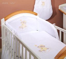 MAMO-TATO pościel 2-el Miś na chmurce w bieli do łóżeczka 60x120cm