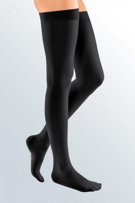 Pończochy Elegance, ucisk 2 stopnia, czarny : długość - normalne, kolor - czarny, rozmiar - 3