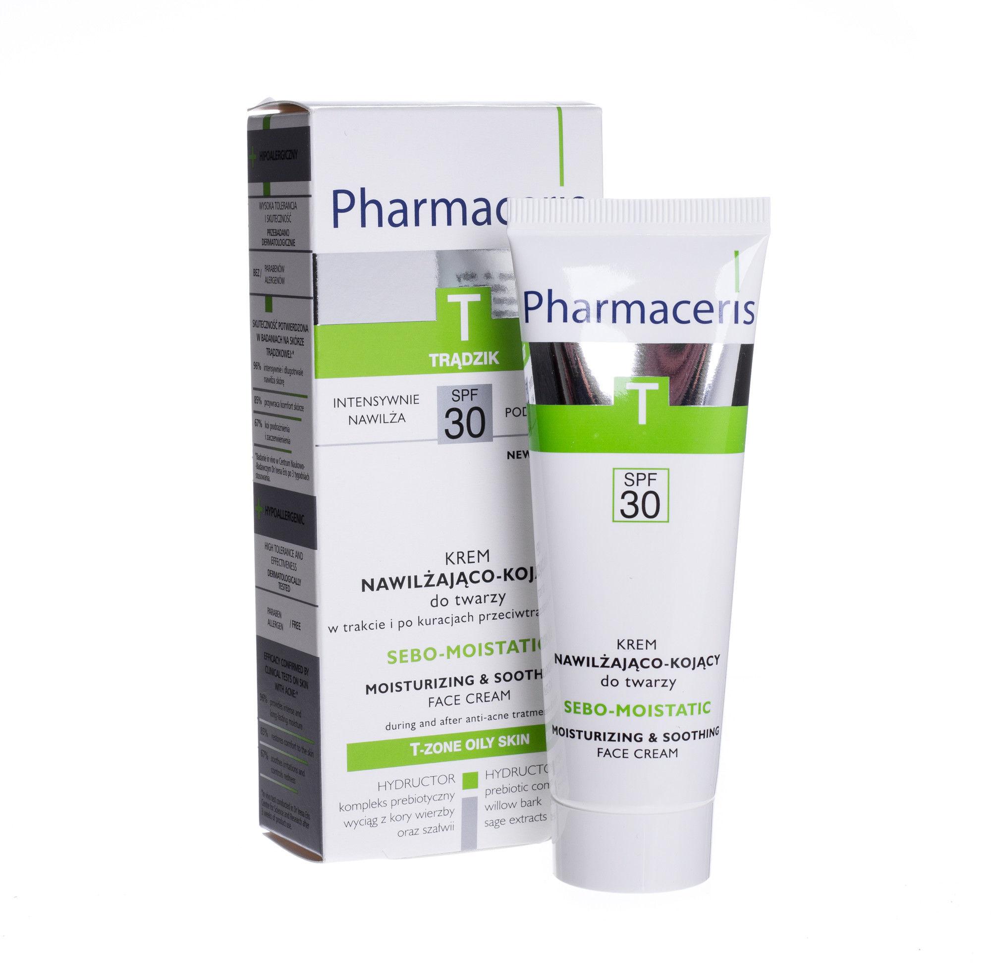 Pharmaceris T Sebo-Moistatic krem nawilżająco-kojący SPF30, 50ml