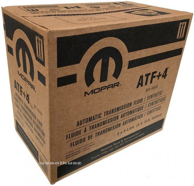 Karton oleju skrzyni biegów MOPAR ATF+4 MS-9602 15l Jeep