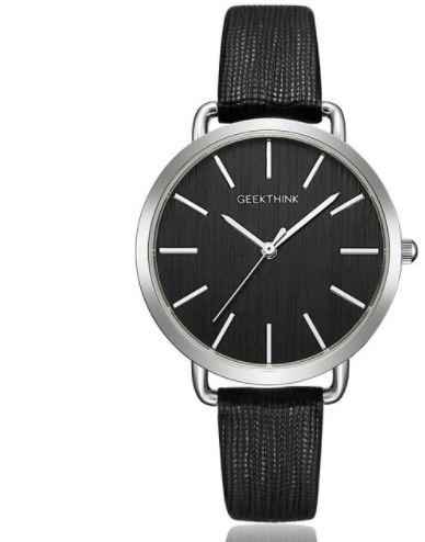 Delikatny zegarek damski GeekThink - srebrno-czarny