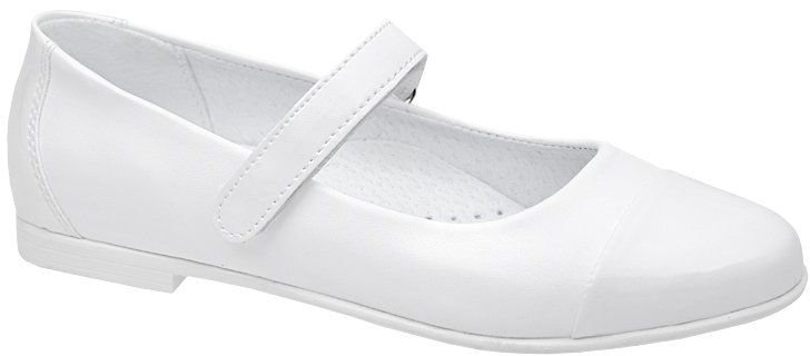 Balerinki buty komunijne KORNECKI 6098 Białe Baleriny