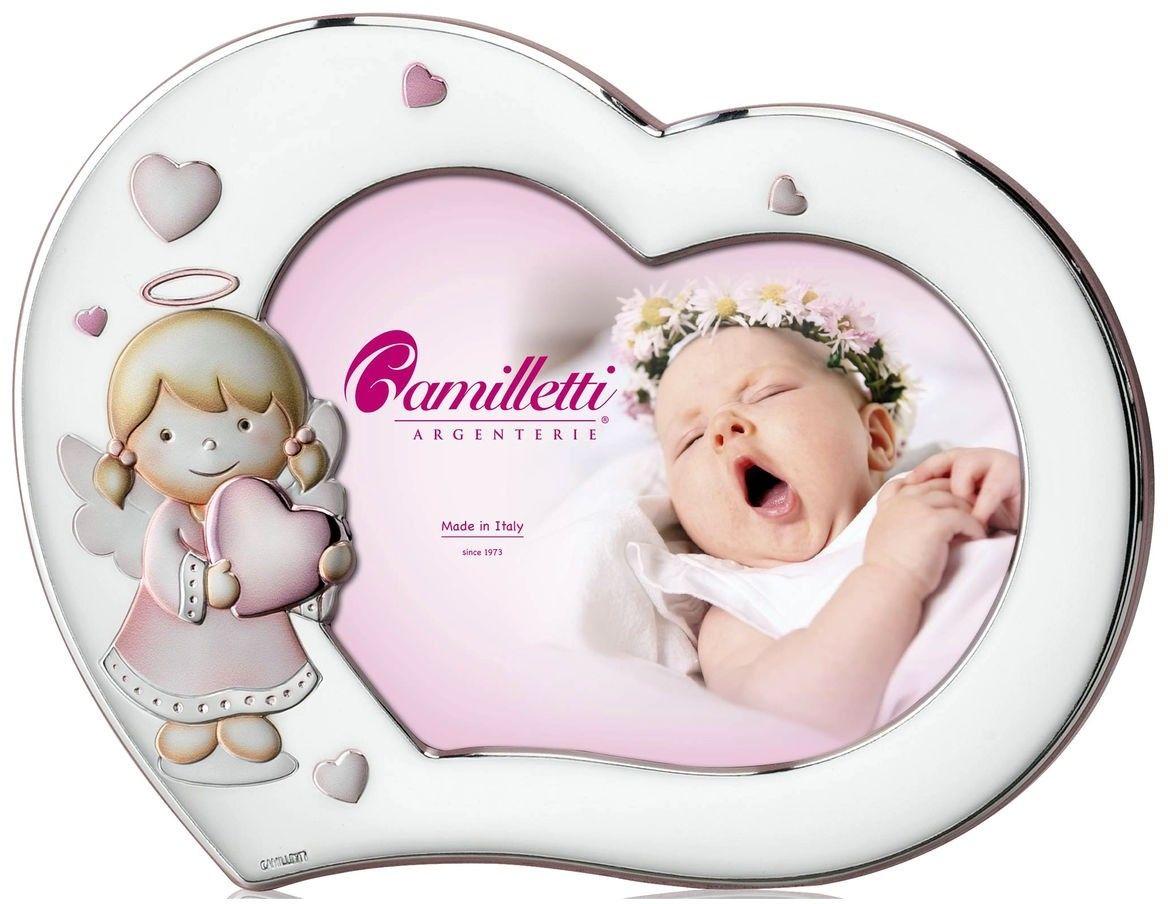 Ramka dziecięca serce z Aniołkiem Rozmiar: 13x18 cm Kolor: Różowy SKU: CM185495