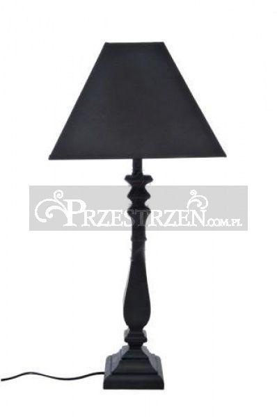 LAMPA STOŁOWA-NOCNA - Z ABAŻUREM - Czarna 65,5 cm / 28975