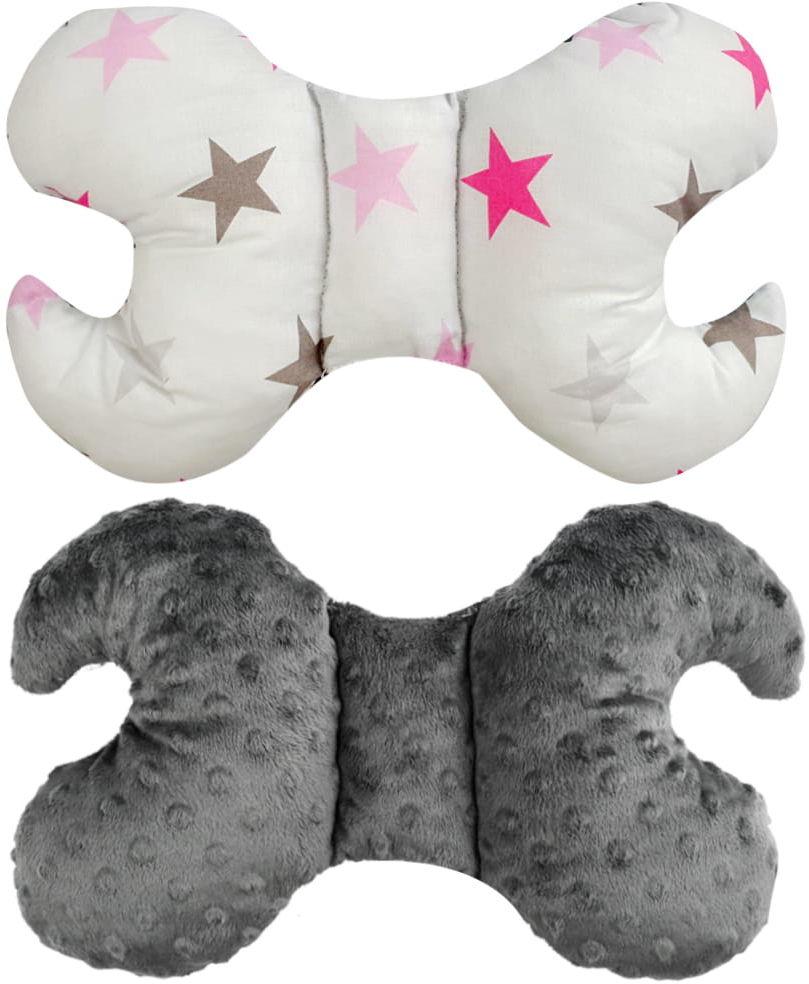 Poduszka antywstrząsowa, motylek białe gwiazdy