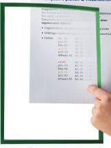 Koszulka magnetyczna A4 ramka zielony 5szt