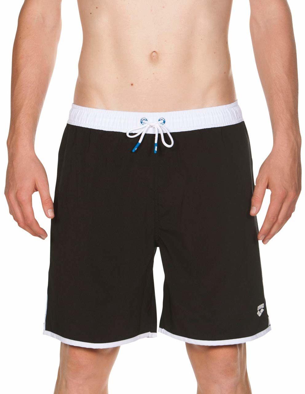 Sand Team Stripe bermudy plażowe szorty, męskie, 001832, czarno-biało-czarny, S