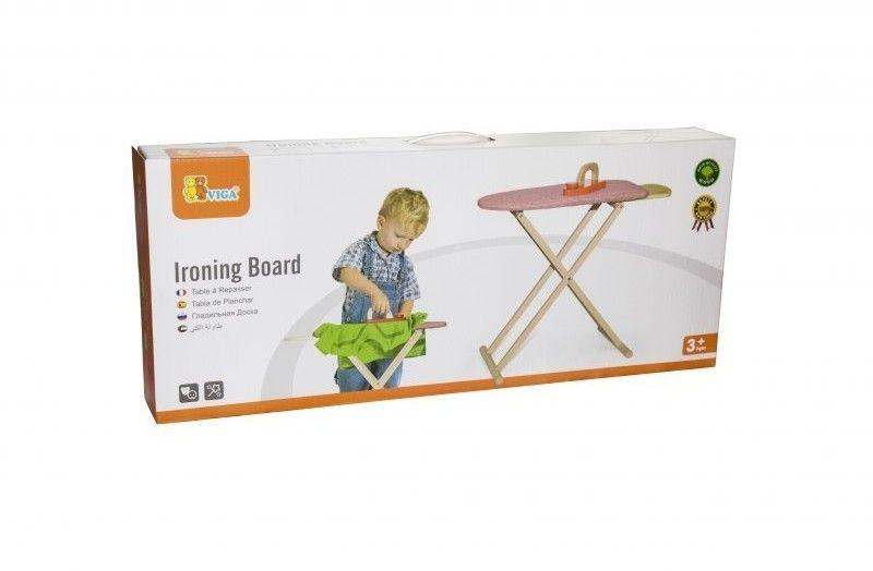 Viga Zestaw Drewniana deska do prasowania dla dzieci z Żelazkiem