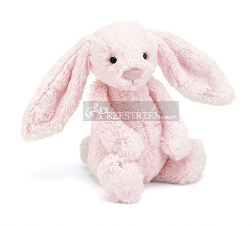 MASKOTKA JELLYCAT Pluszowy Różowy Królik Bashful Bunny Pink - 31 cm BAS4BP