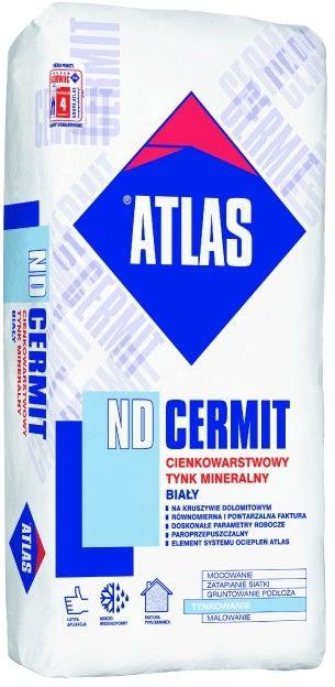 Tynk mineralny Atlas baranek 2 mm biały 25 kg
