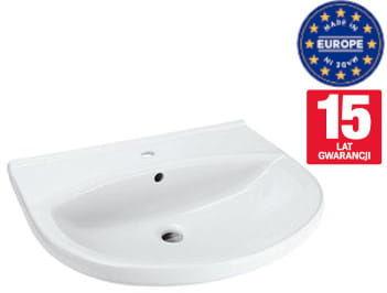 Umywalka 50x43 cm ceramiczna z otworem na baterię ,biała