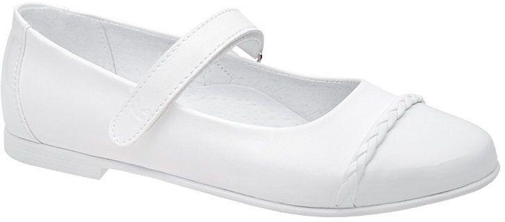 Balerinki buty komunijne KORNECKI 6271 Białe Baleriny