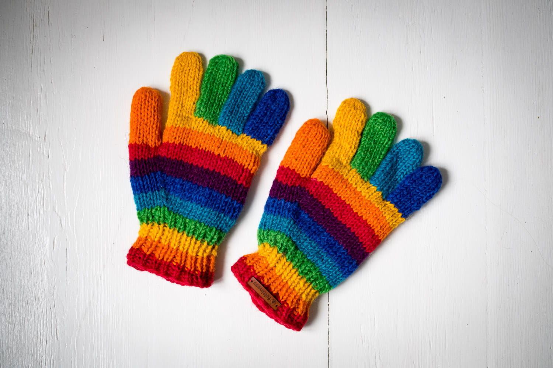 Rękawiczki wełniane Kolorowe