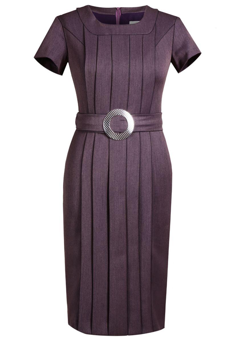 Sukienka FSU316 ŚLIWKOWY