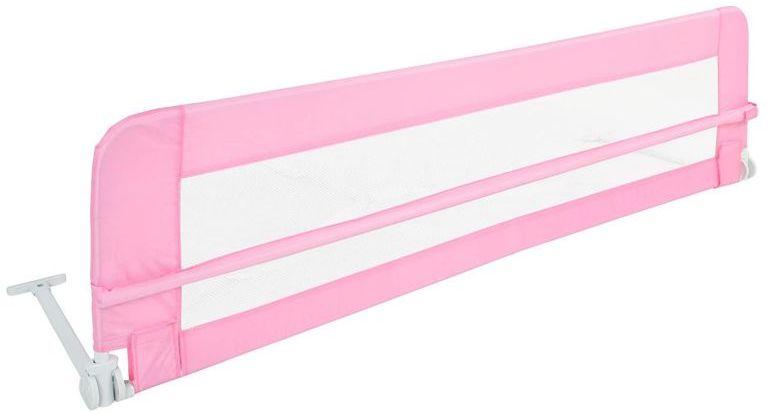 Barierka do łóżeczka 150 cm, różowy